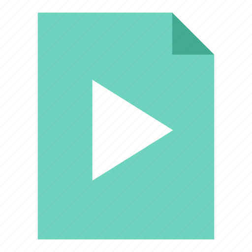 document, play, video icon