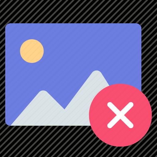 album, delete, gallery icon