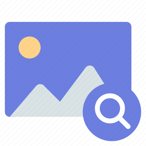 gallery, photo, search icon