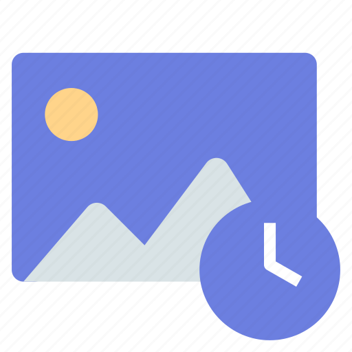 gallery, photo, time icon