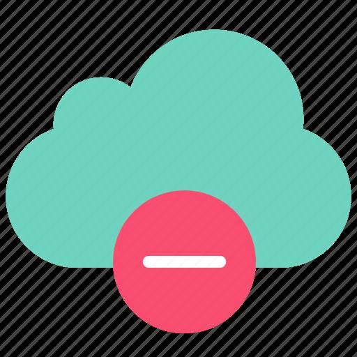 cloud, data, delete icon