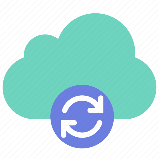 cloud, data, sync icon