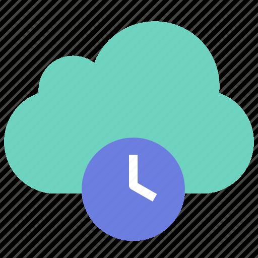 backup, cloud, history icon
