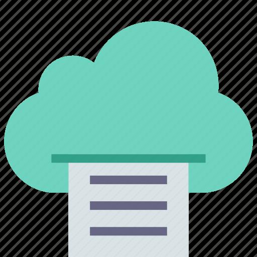 cloud, file, print icon