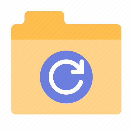 files, folder, refresh icon