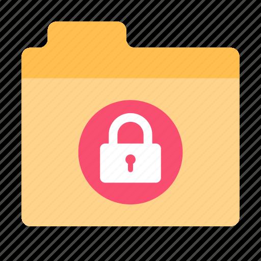 files, folder, lock icon
