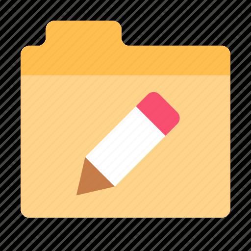 data, edit, folder icon