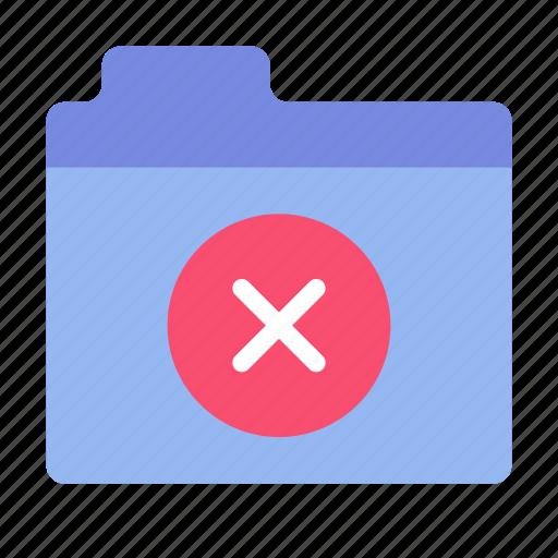 delete, files, folder icon