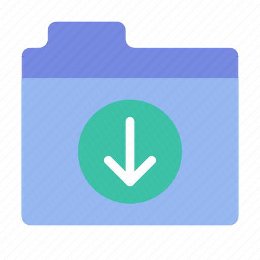 download, files, folder icon