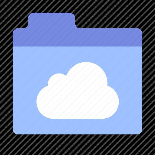 cloud, files, folder icon