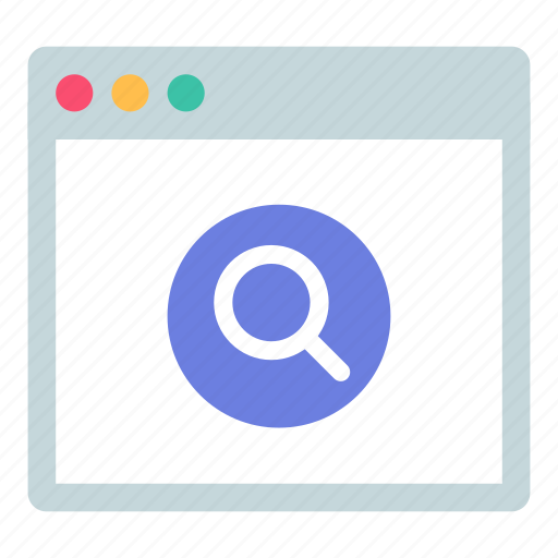 app, browser, search icon