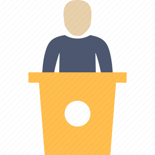 man, presentation, speech icon