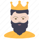 beard, king, man icon