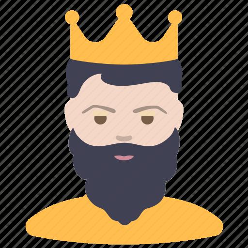 beard, king, man icon