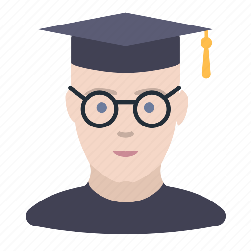 man, student icon