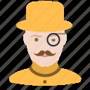 holmes, human, man, millionaire, mustache, retro, watson icon