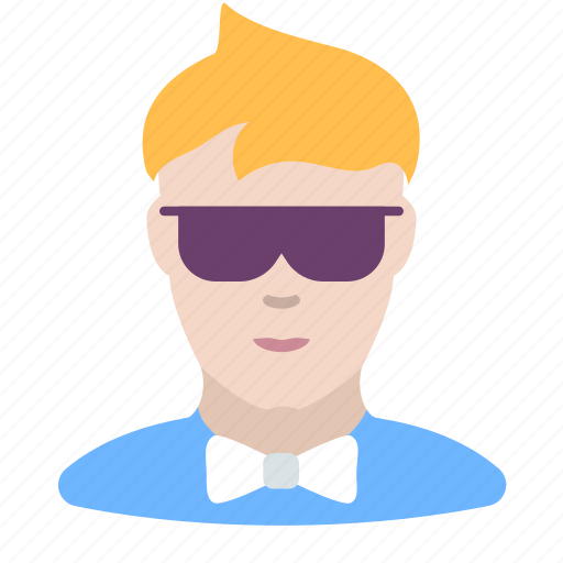 hipster, man, showman icon