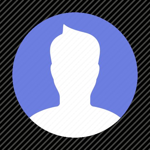man, profile, round icon