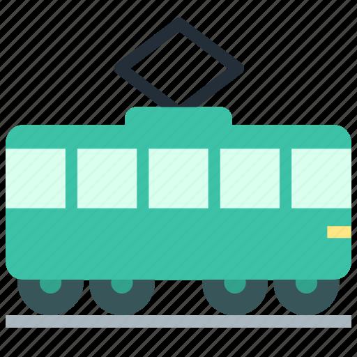 railroad, tramway, transport icon