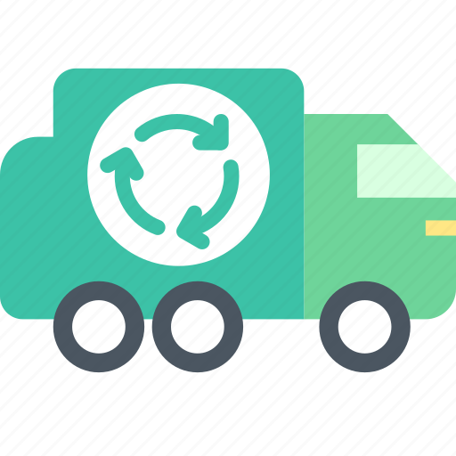 garbage, recycling, truck icon