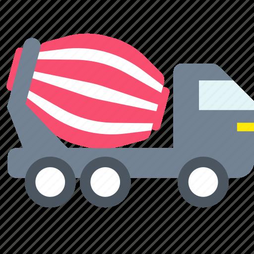 concrete, mixer, transport icon