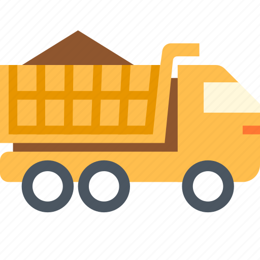 lorry, tipper, truck icon