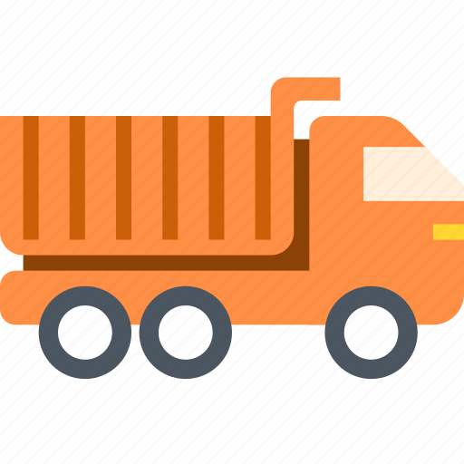 lorry, tipper, transport icon