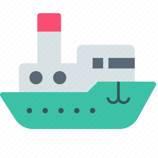 ship, shipping, steamboat icon
