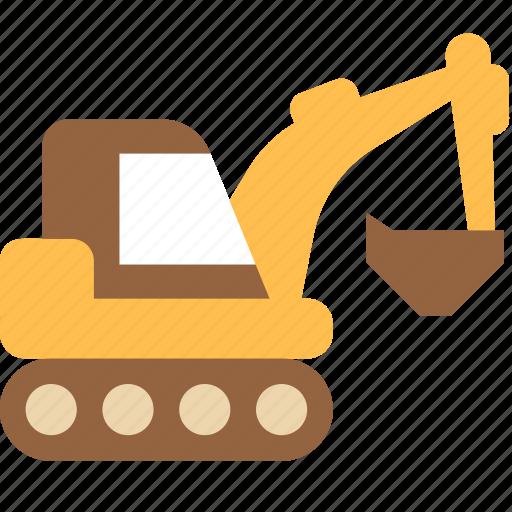 caterpillar, digger, machine icon