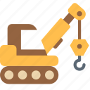caterpillar, construction, crane, equipment, industrial icon