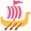 shallop, ship, viking icon