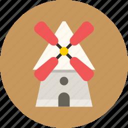 mill, village, windmill icon
