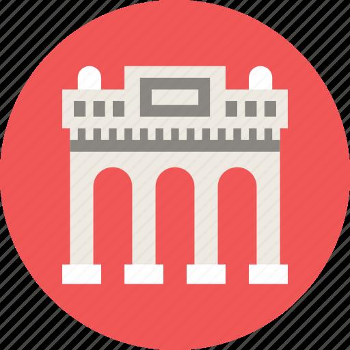 arc, arch, building, triumphal icon