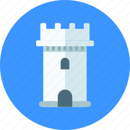bastion, building, castle, medieval, tower icon