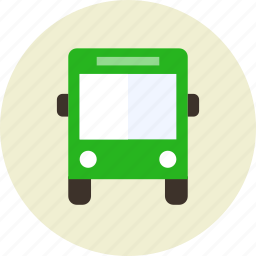 autobus, bus, parking, sign, stop icon