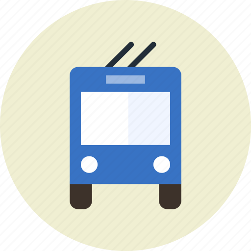 bus, public, sign, transport, trolley, vehicle icon