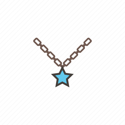 accessories, jewelry, necklace, star icon