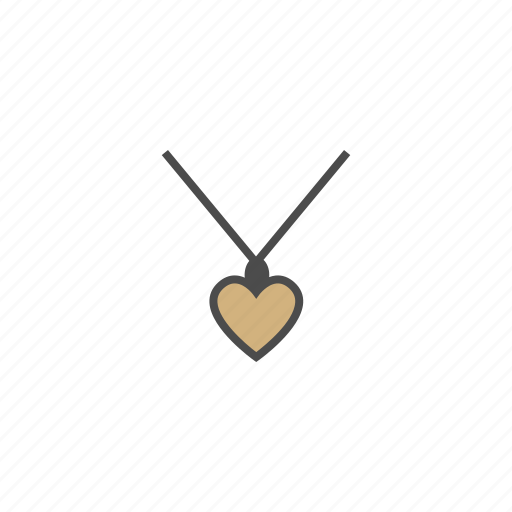 accessories, heart, jewelry, necklace icon