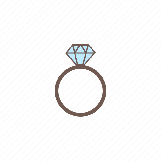 accessories, diamond, engagement ring, jewelry, ring icon