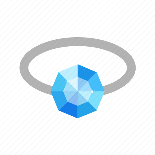 diamond, gem, jewel, jewelry, ring, stone icon