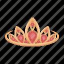 accessory, crown, decoration, jewelry, precious, product, stone