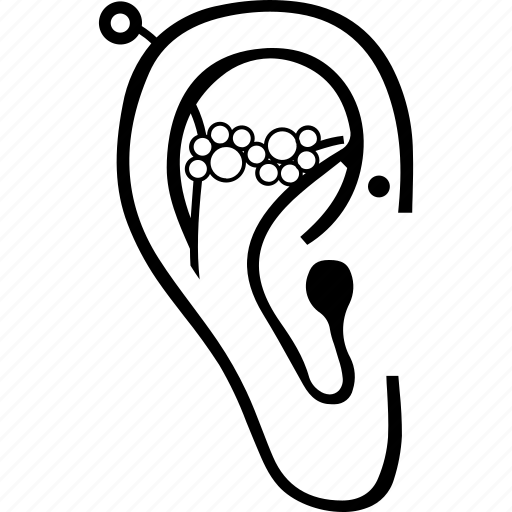 Circular earrings, dangles, driblet earrings, ear cuff, ear piercings, hoop earrings, woman earrings icon - Download on Iconfinder