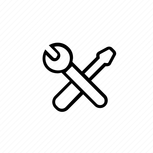 manufacturing, repair, screwdriver, settings, tool, tools, wrench icon