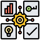 result, analytic, knowledge, okr, diagram icon