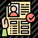 cv, document, information, profile, resume