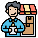 cargo, distributor, products, retail, supplier icon