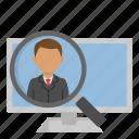 work, job, office, headhunter icon