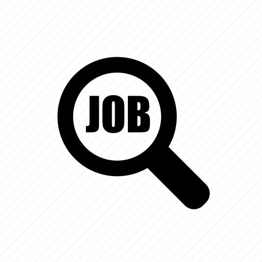 employee, find, glass, looking, magnifier, magnifying, search, search job icon