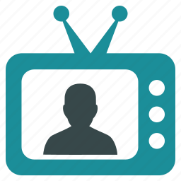 communication, monitor, news, screen, speaker, television, tv icon