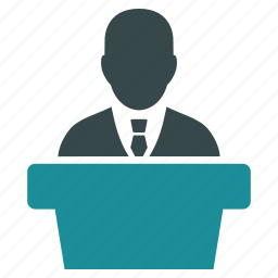 government, leader, manager, politician, presentation, speaker, speech icon